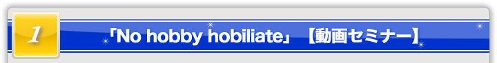 「No hobby hobiliate~無趣味な方へのホビリエイトブログ戦略~」【動画セミナー】