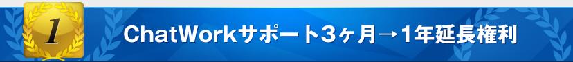 特典1:ChatWorkサポート3ヶ月→1年延長権利
