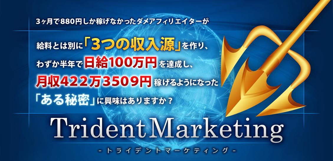 177日で月収422万3509円稼ぐ「トライデントマーケティング」